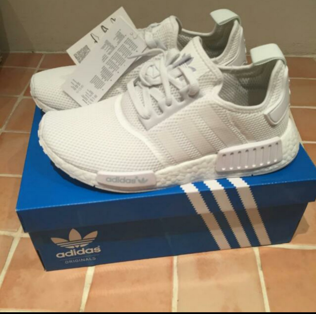 e31e6bfa6f425 Adidas NMD R1 Triple White Mesh