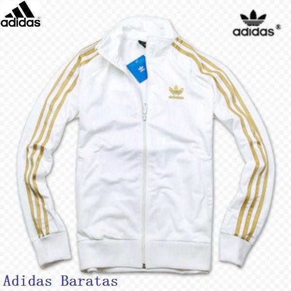Adidas Track Jacket White and Gold, Men