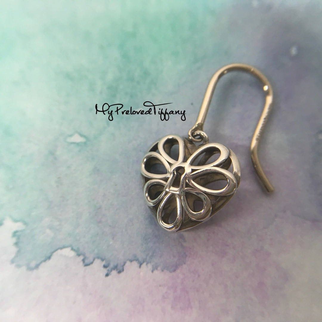 Authentic Tiffany Co Filigree Heart Silver Earring One Side Only Replacement Women S Fashion Jewellery Earrings On Carou