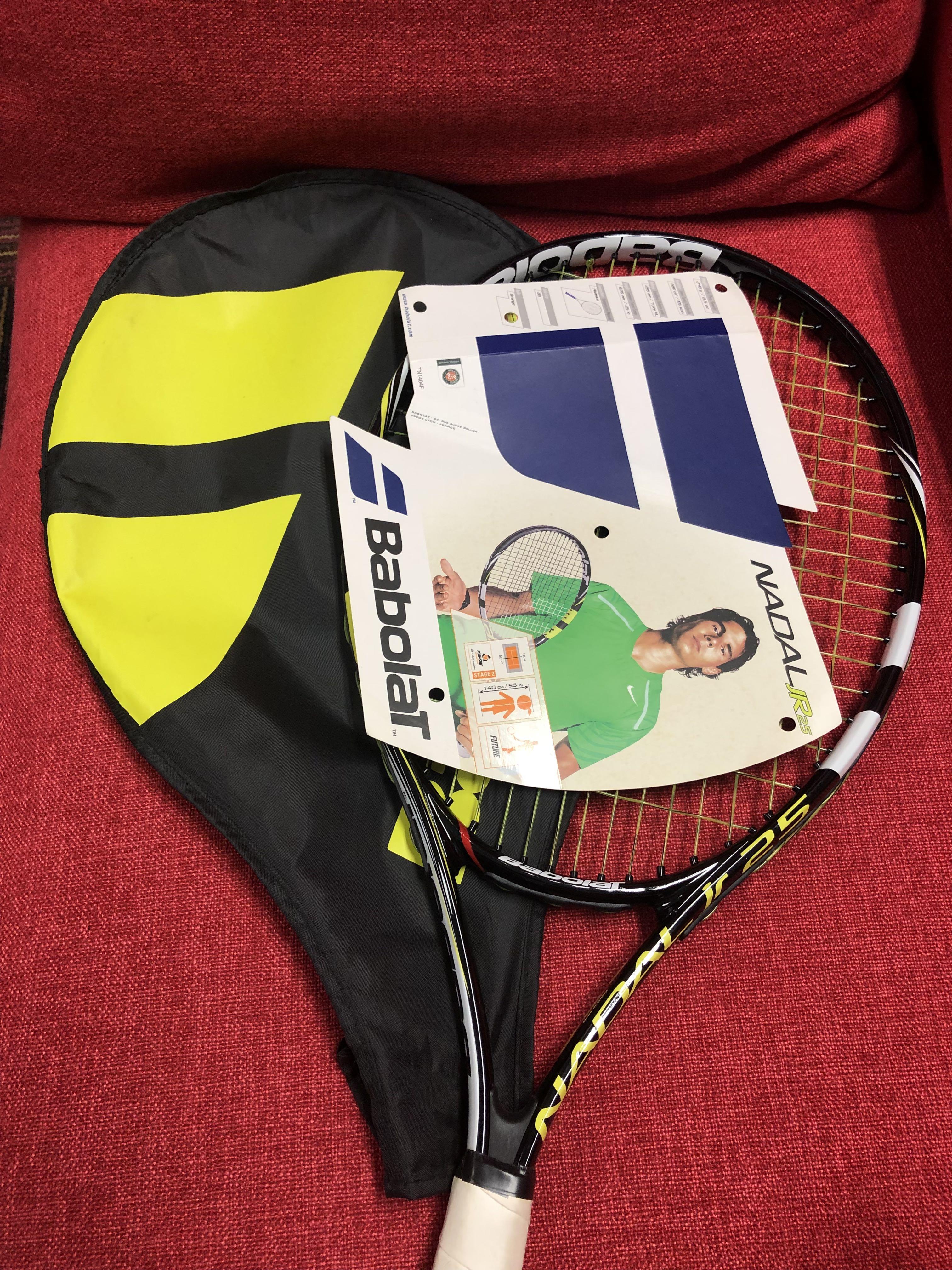 620186ebb9d3c BABOLAT Nadal 25 Junior Tennis Racquet, Sports, Sports & Games Equipment on  Carousell