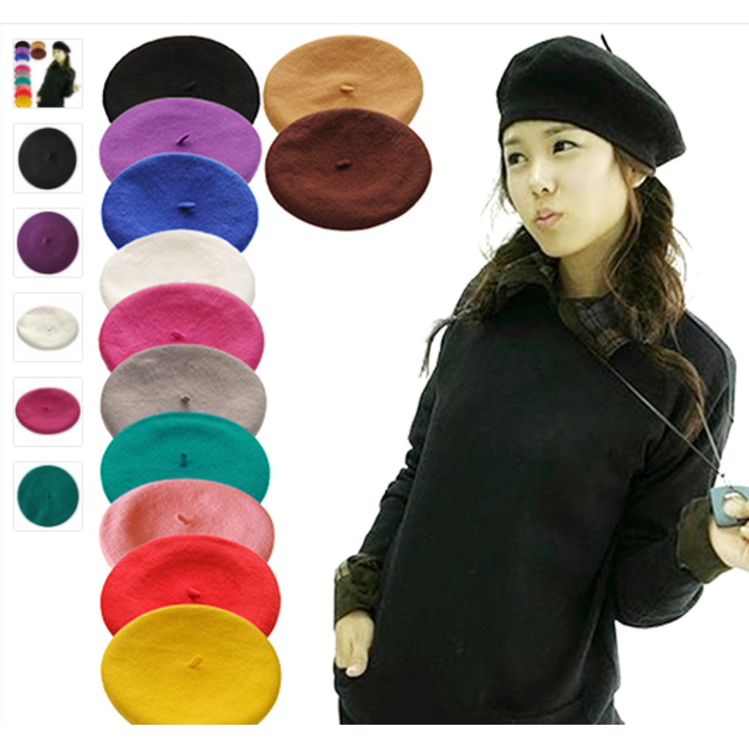 b06cc5b7 Beret - available in BLACK, ROYAL BLUE, GREEN, NUDE (BEIGE), Women's ...