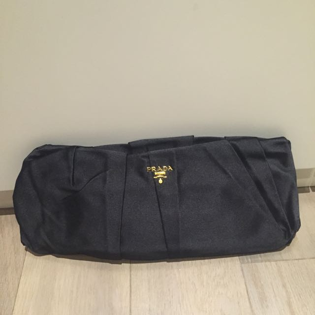 eb2e49418dd9 Black Prada Dinner Clutch Bag