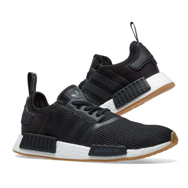 d147b12bc2708 Brand New Adidas NMD R1 Core Black   Gum   Size US 10.5