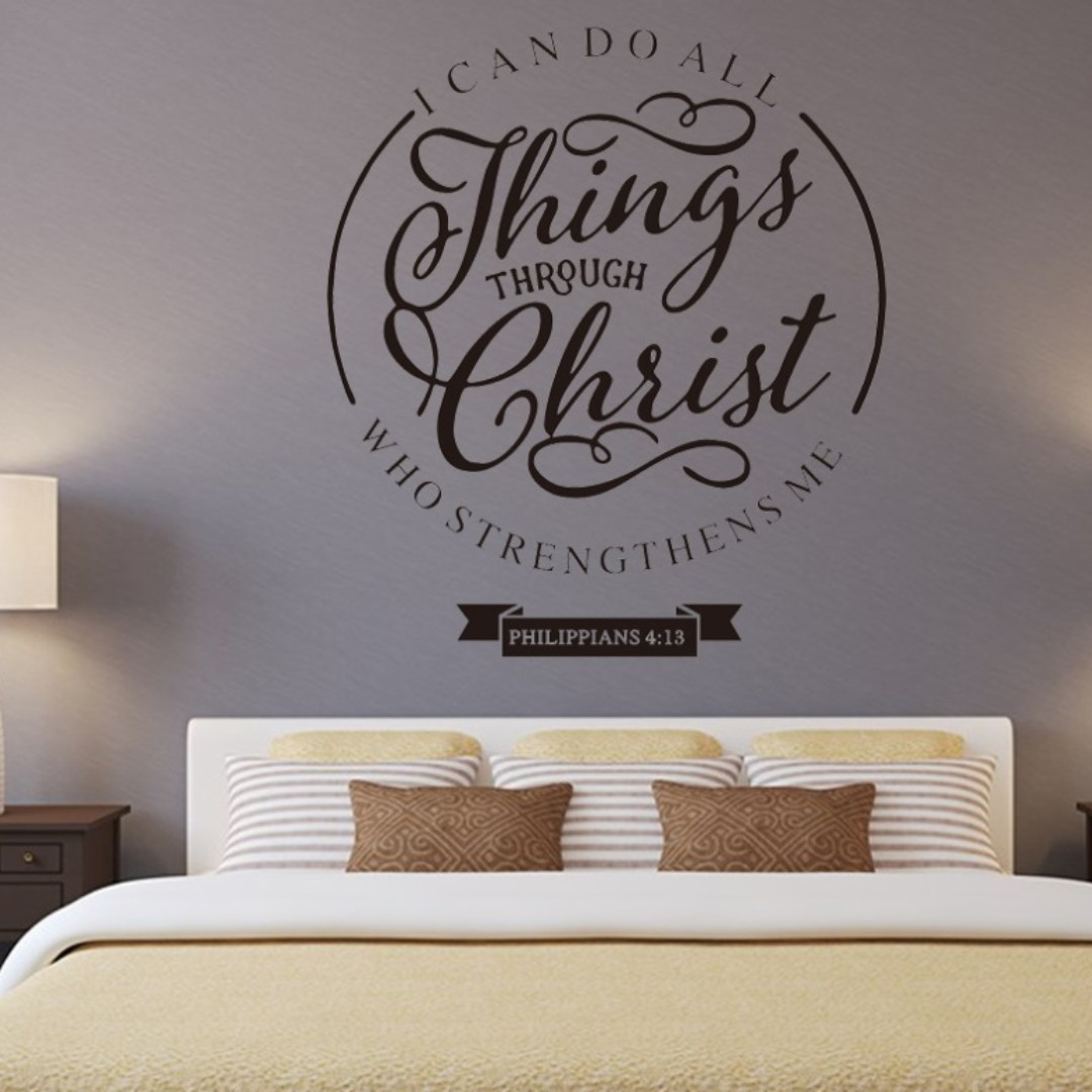Christ Christian Bible Verse Quote Wall Home Decor