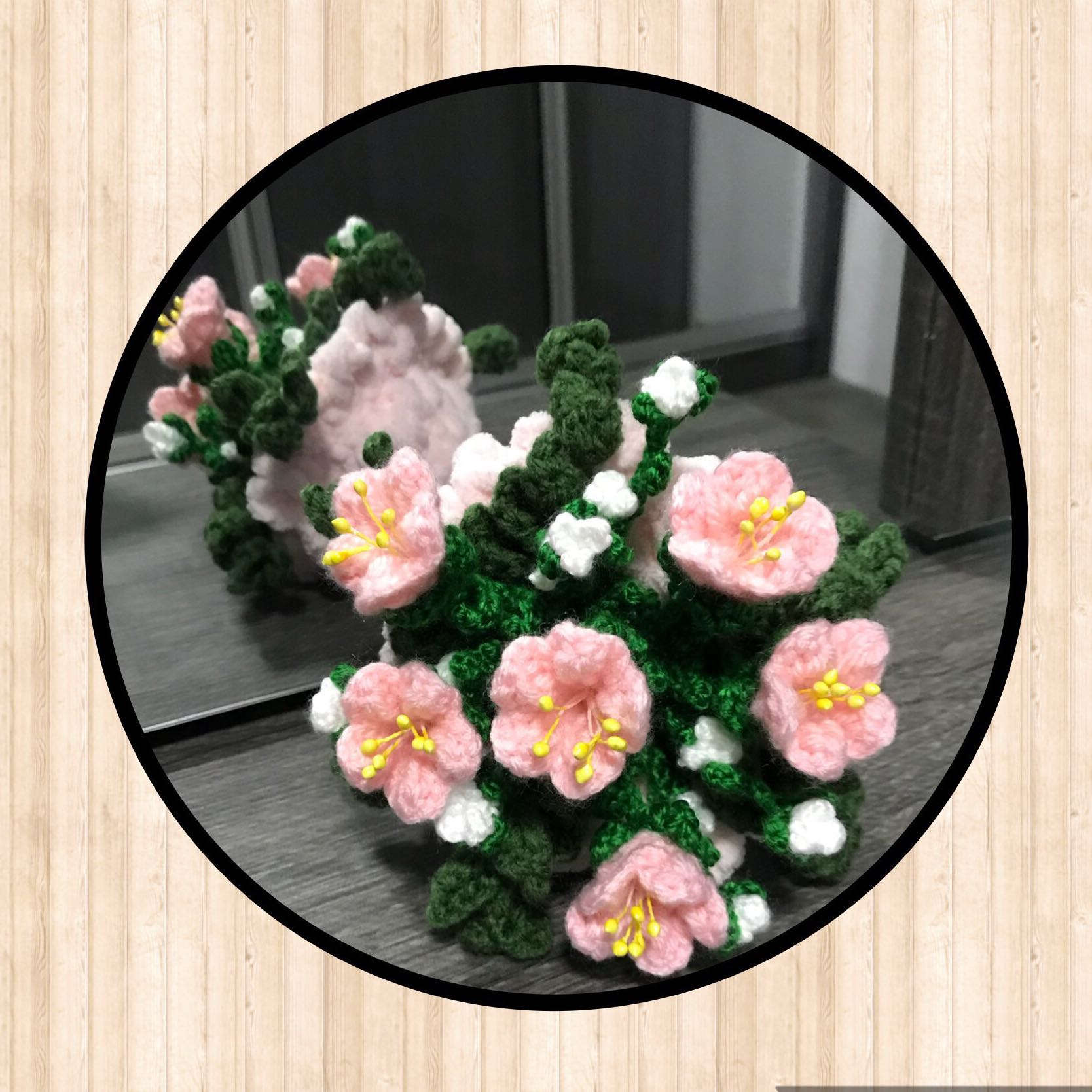 Crochet flower bouquet baby pink medium design craft handmade photo photo izmirmasajfo
