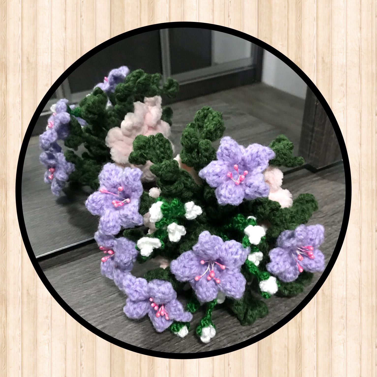 Crochet flower bouquet lilac large design craft handmade photo photo izmirmasajfo