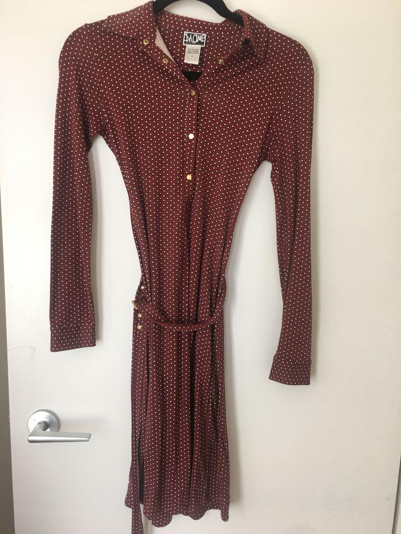 Diane Von Furstenberg Maroon Dress