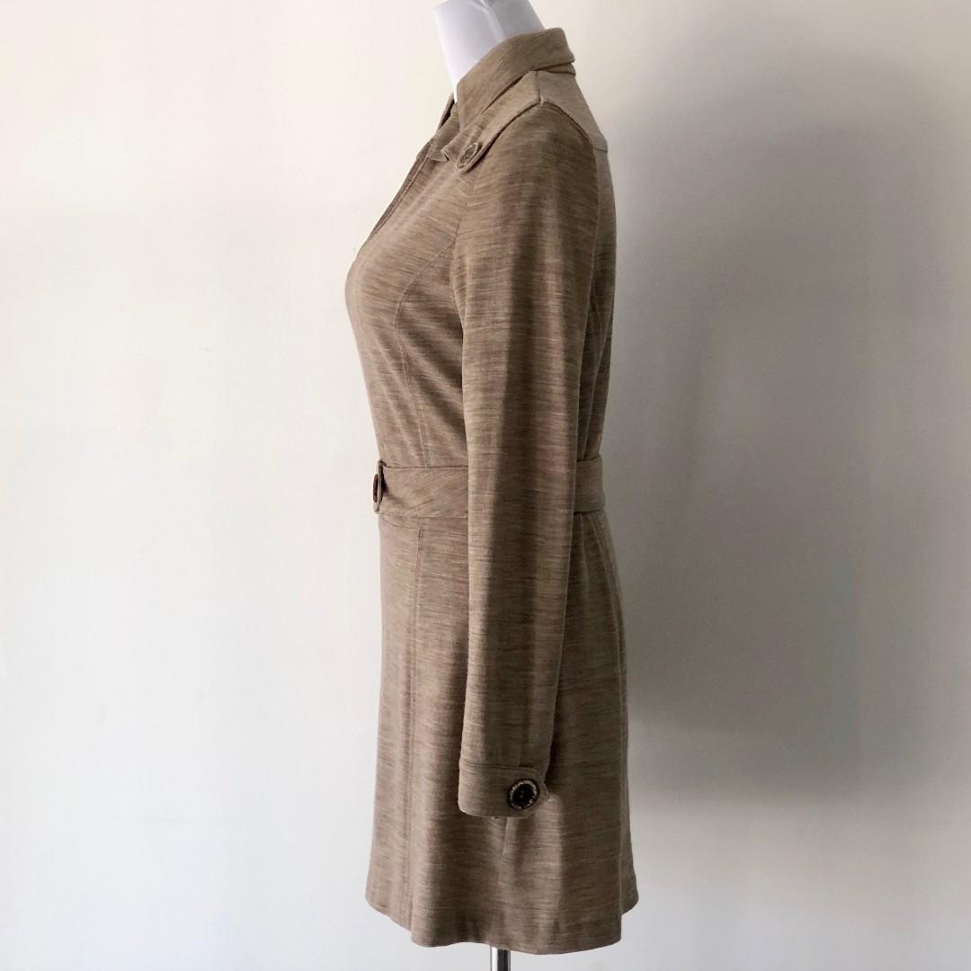 Escada Sport Wool Blend Belt Dress Size 38
