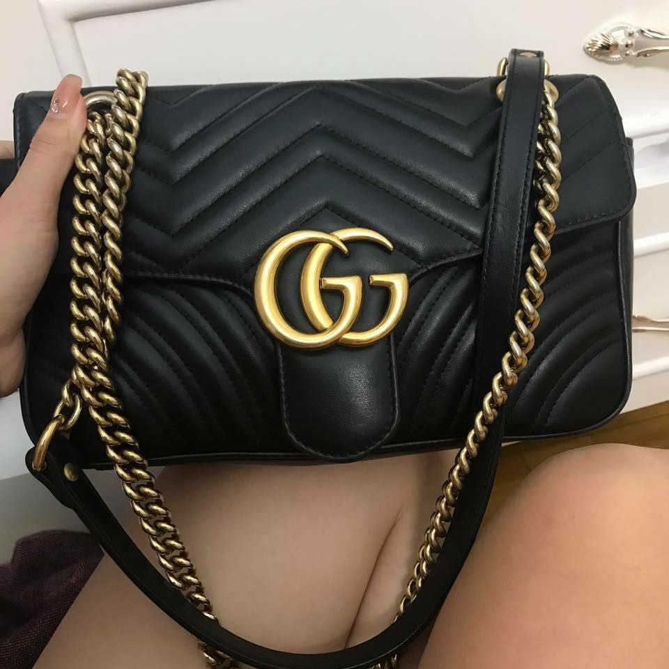 Gucci Marmont Small Size Luxury Bags Wallets Handbags On Carousell Ysl Woc 19 Cm Nude Ghw