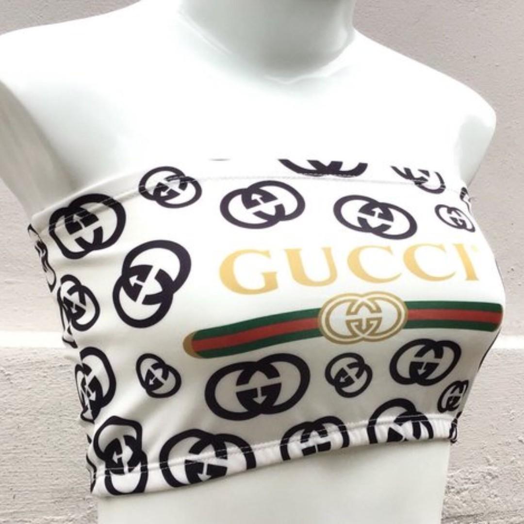 Gucci Tube Top Crop Top