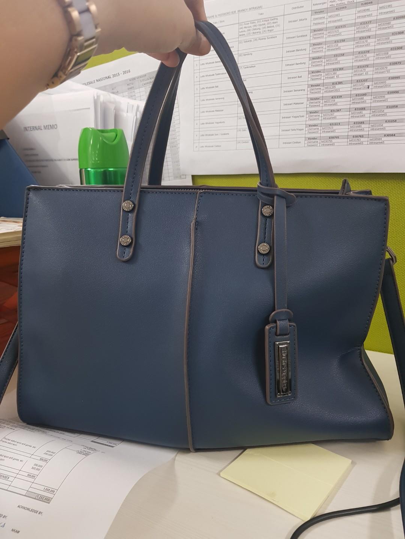 Hush puppies blue bag a09d5fc5f5