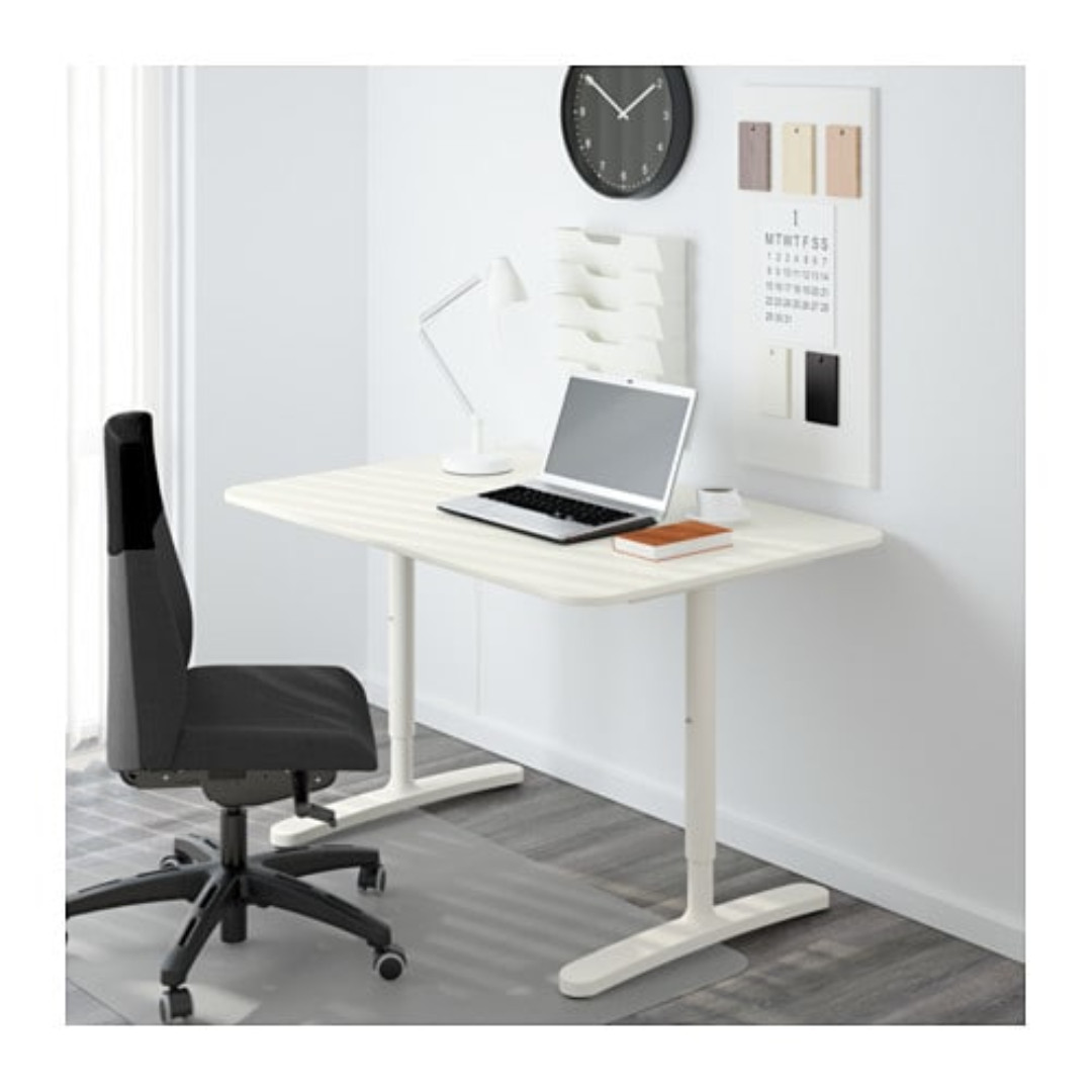 ikea bekant office desk in white 160x80 cm with chair furniture rh sg carousell com how do i sell my office furniture sell my used office furniture