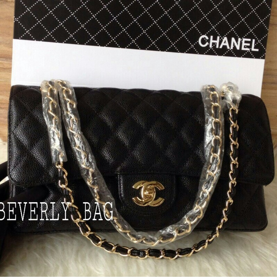 42f4b86c60b1 jual tas Chanel Classic Caviar 30 MIRROR QUALITY - hitam GHW, Olshop  Fashion, Olshop Wanita on Carousell
