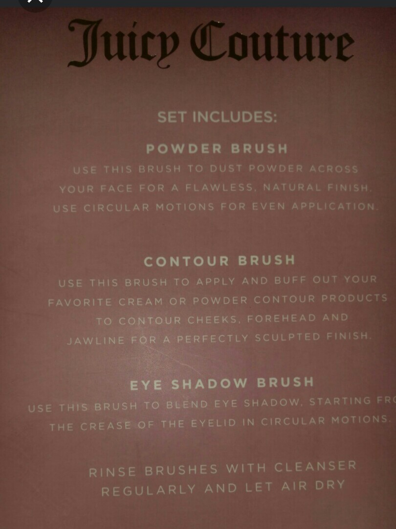 Juicy Couture Brush Set + Bear King Charm