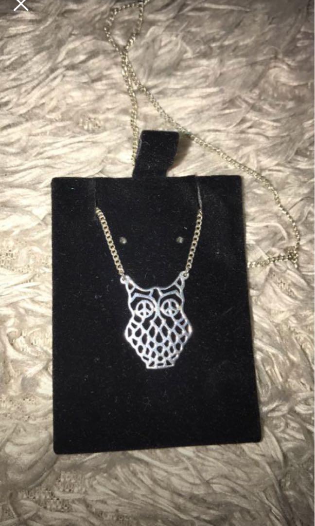 Karen walker owl necklace