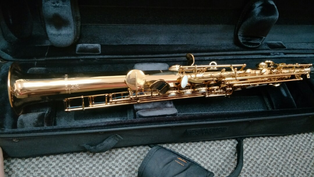 [PRICE REDUCED, Leaving Soon] Like Brand New Gold Professional Line  Forestone Soprano Sax