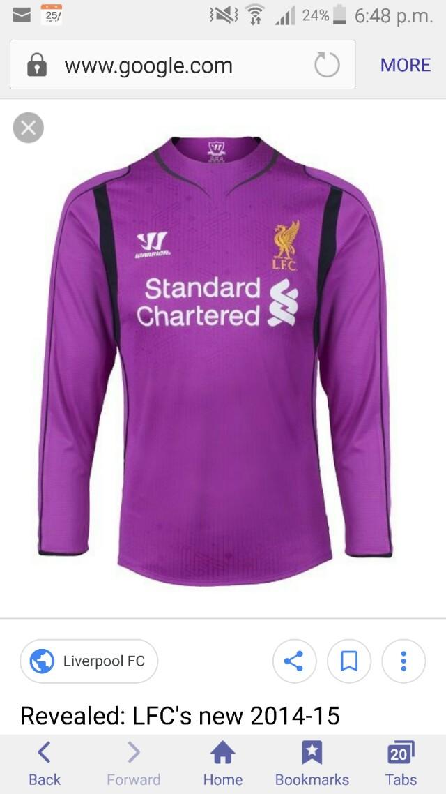 23ff84a5b Liverpool 2014 15 Goalkeeper Jersey