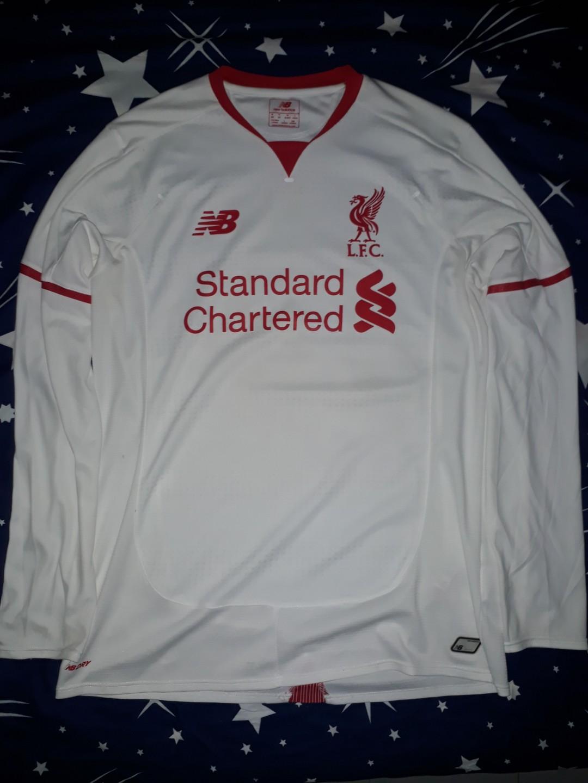 promo code d9f0c 32ea3 New Balance Liverpool Away Kit 15-16 Long Sleeve (SIZE M ...