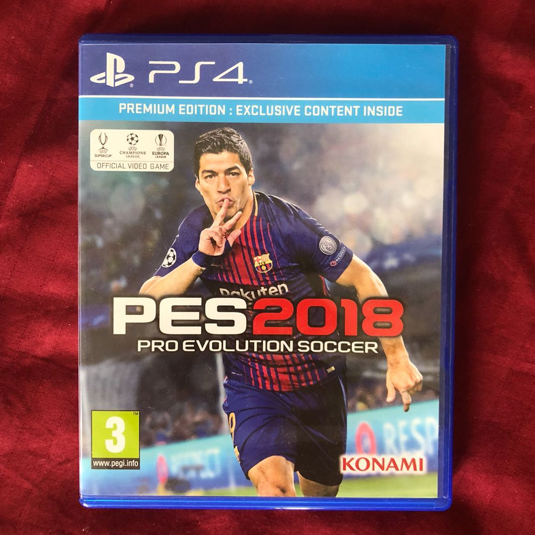 Pes 2018 Premium Edition Video Gaming Games On Carousell Sony Ps4 Pro Evolution Soccer