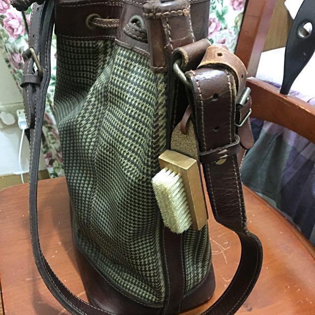 [POLO]Ralph Iauren 千鳥格 水桶包