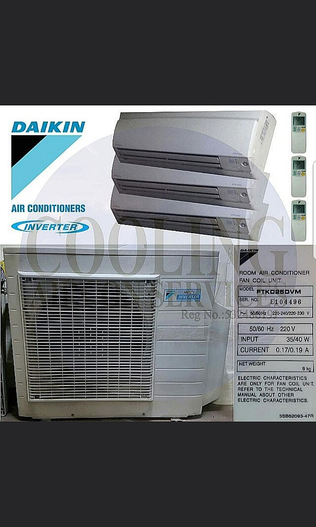 Reconditioned Daikin Inverter System 3 Aircon, Home
