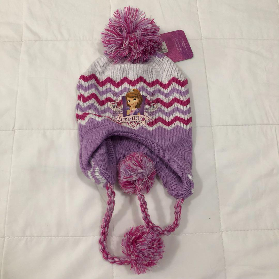 3d1ed7fb3 Sofia the First printed cap with pom poms on Carousell