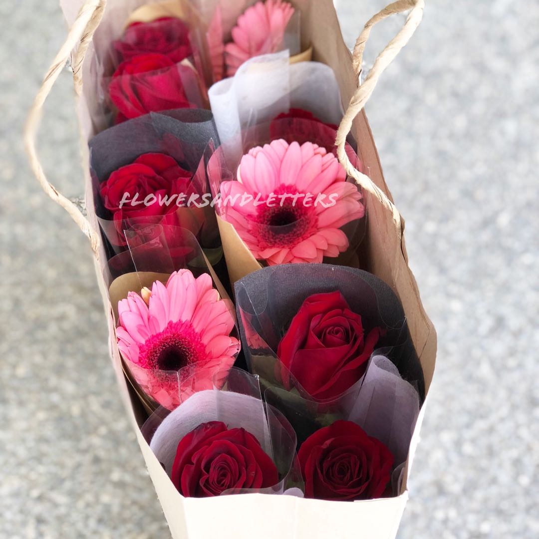 Sunflower And Pink Flower Bouquet - Flowers Healthy