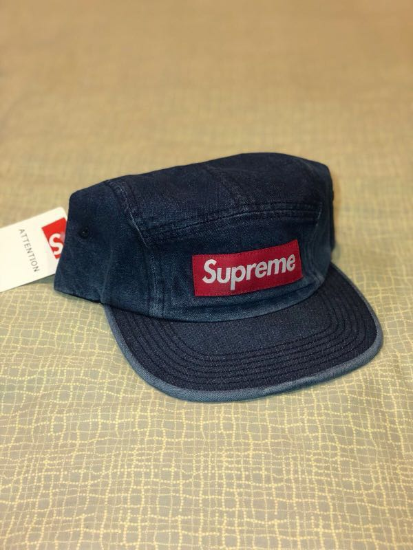 Supreme denim camp cap (blue) 50a5f7f1335