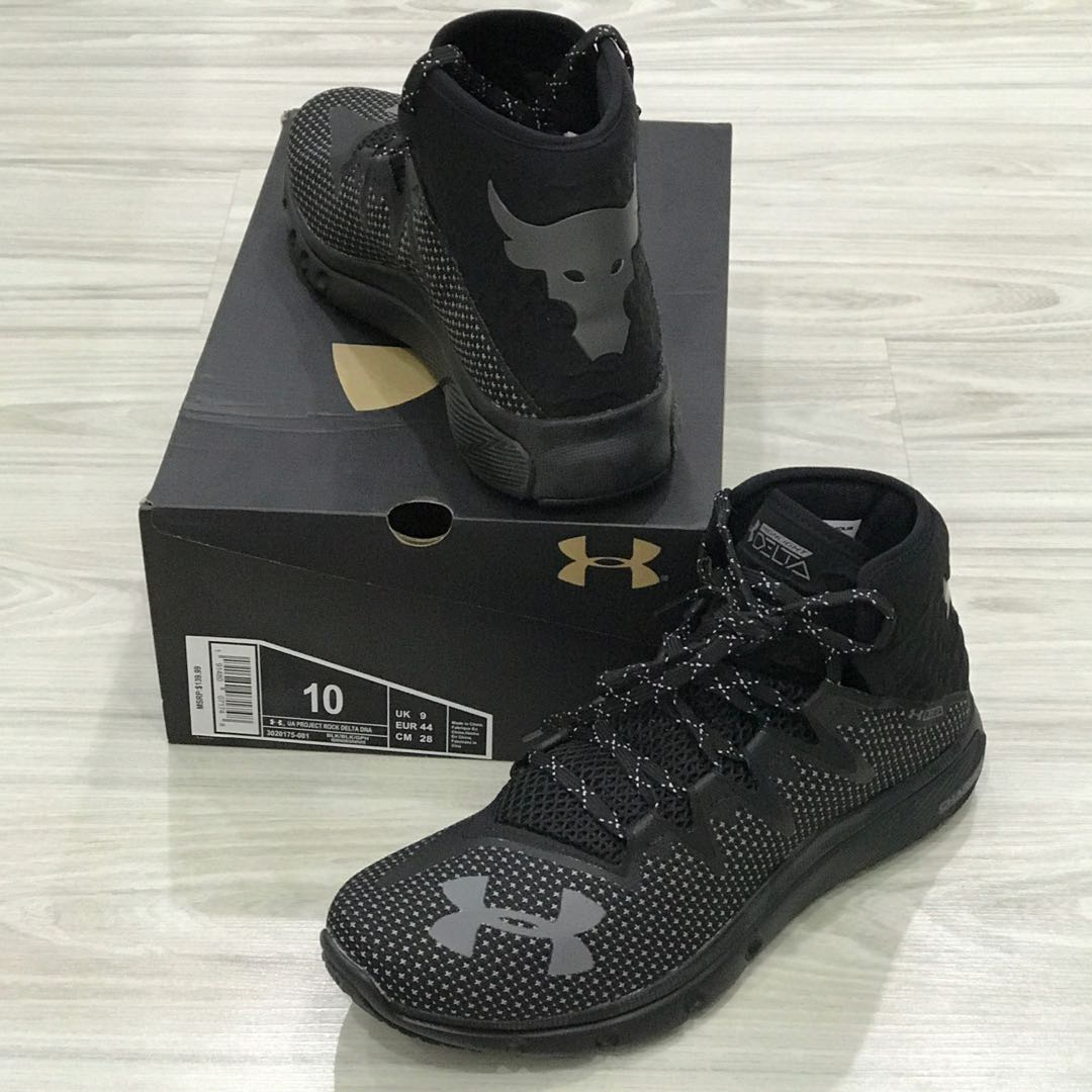 free shipping 89aef ca8cd Under Armour Project ROCK Delta DNA Shoes (Black), Men s Fashion, Footwear  on Carousell
