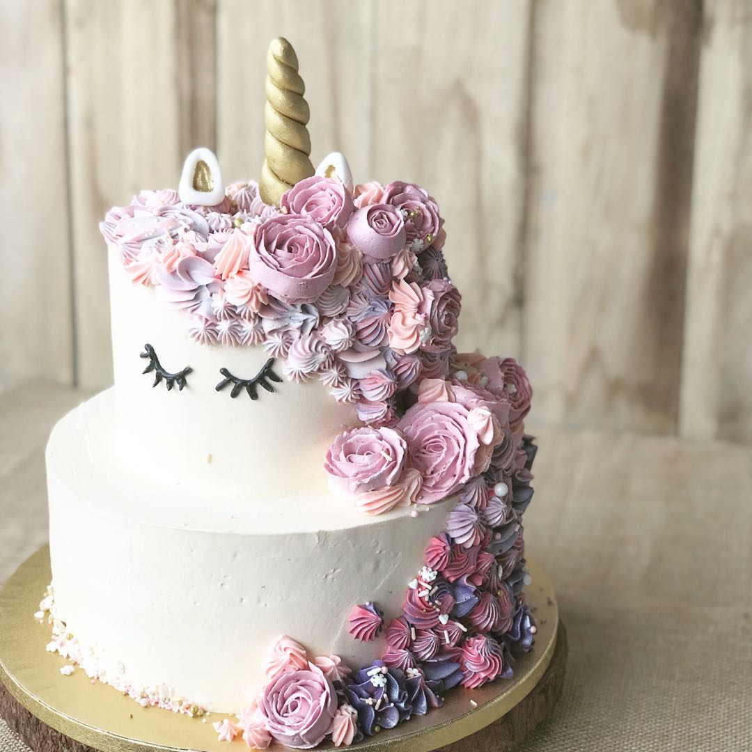 Unicorn Cake Two Tier Customized Girl Birthday
