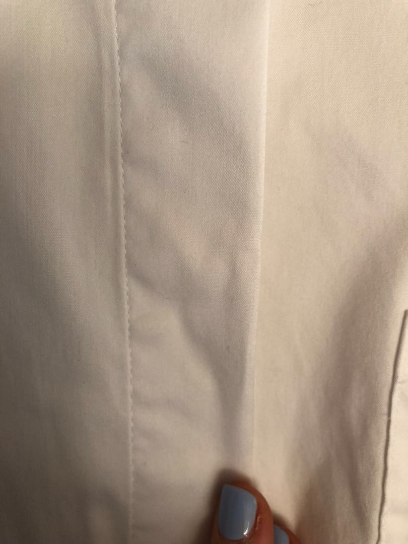 White boxy shirt