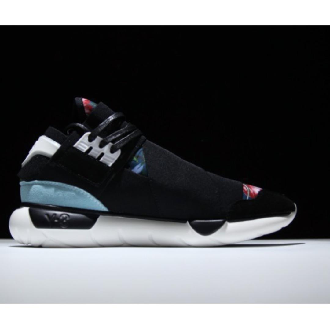 2c4c1da8aec94 Y-3 Qasa High Cut Floral Sneakers