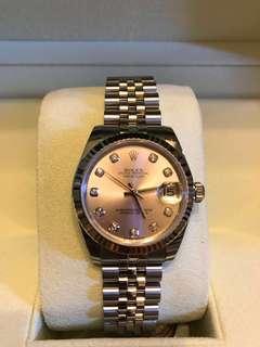 🚚 勞力士手錶真品粉紅錶面全鑽