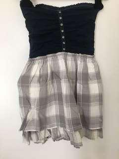 NEW w/TAG A&F Blue Tube Mini Dress