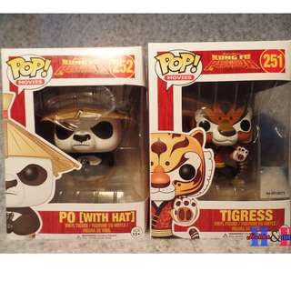 Funko Pop Kung Fu Panda Po & Tigress