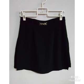 《壓箱寶》二手古著 黑色復古褲裙
