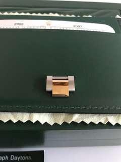 Rolex 地通拿18k金鋼錶帶一格