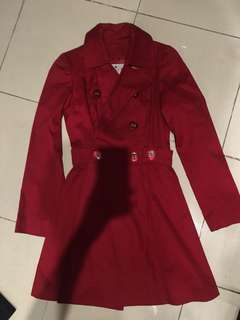 Maria D. Red Trench Coat