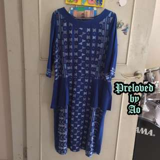 DRESS BIRU / PARTY DRESS / BAJU KONDANGAN
