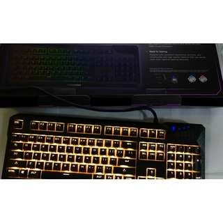 Tesoro Durandal Spectrum RGB Mechanical Gaming Keyboard with Blue Cherry MX switches NEW