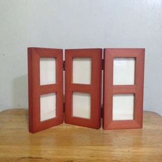 Tri Fold Hinged Photo Frame made of hardwood by Boots