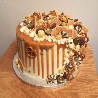 Salted Caramel Messy Trail Cake