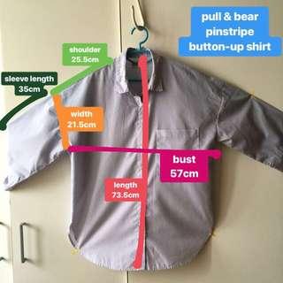 pull & bear pinstripe button-up shirt