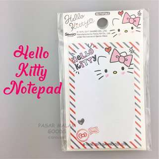 Hello Kitty Notepad Message Memo Pad Small Writing Write Note Paper