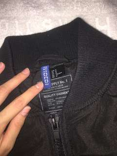 Black bomber jacket (H&M size: Medium)