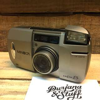 Minolta Point & Shoot Film Camera Titanium Silver