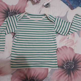 Marks & Spencer Mint Striped Long Sleeves