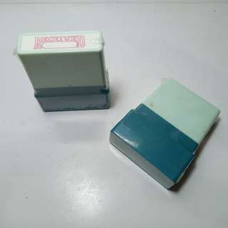 RECEIVED self-inking office stampers. Brand new, never used