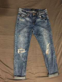Joe fresh mid wash boyfriend jeans