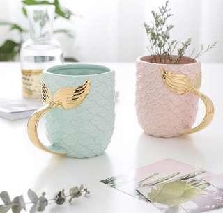 Mermaid Gold Tail Mug / Cup (900ml)
